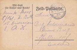 Feldpostkarte - Mit Gott Für Kaiser Und Reich! - 8/161 - Nach Pfaffendorf - 1915 (58100) - Briefe U. Dokumente