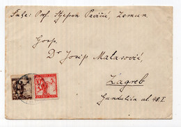 1919?.  KINGDOM OF SHS, SERBIA, ZEMUN TO ZAGREB COVER, CHAINBREAKERS - Briefe U. Dokumente
