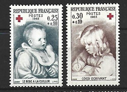 Timbre France En Neuf ** N 1466/1467 - Ungebraucht