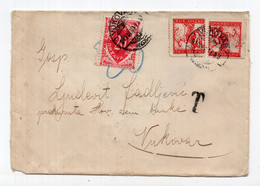 1919 KINGDOM OF SHS, CROATIA, VUKOVAR, COVER, CHAINBREAKERS, POSTAGE DUE - Portomarken