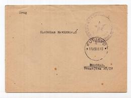 11.08.1945. YUGOSLAVIA,CROATIA,KUTJEVO TO BELGRADE,PARTIZAN MAIL,COVER - Briefe U. Dokumente