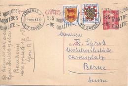 CP  Annemasse - Bern  (Stempel: Centre Horloger)       1951 - Briefe U. Dokumente