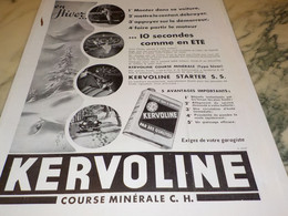ANCIENNE PUBLICITE EN HIVER  KERVOLINE 1934 - Sonstige