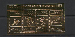 OLYMPICS - GERMANY - MUNICH OLYMPICS  GOLD REPLICA SOUVEIR SHEET  MINT NEVER HINGED - Estate 1972: Monaco