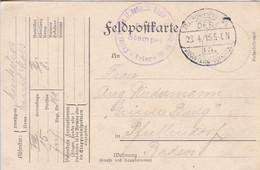 Feldpostkarte - Kgl. Preuss. II. Batln. 10. Rhein. Inf. Regt. No. 161 - Nach Pfaffendorf - 1915 (58101) - Covers & Documents