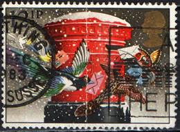 GRAN BRETAGNA - 1983 - NATALE - COLOMBE E BUCA DELLE LETTERE - USATO - Gebraucht