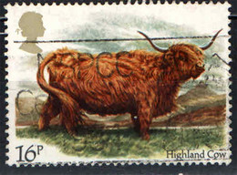 GRAN BRETAGNA - 1984 - MUCCA - HIGLAND COW - USATO - Gebraucht
