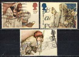 GRAN BRETAGNA - 1984 - NATALE - CHRISTMAS - SACRA FAMIGLIA - ARRIVO A BETLEMME - IL PASTORE E LA PECORA - USATI - Gebraucht