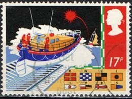 GRAN BRETAGNA - 1985 - SICUREZZA IN MARE - CANOTTO DI SALVATAGGIO - BANDIERE - USATO - Gebraucht