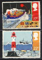 GRAN BRETAGNA - 1985 - SICUREZZA IN MARE - FARO - CANOTTO DI SALVATAGGIO - MAPPA - BANDIERE - USATI - Gebraucht