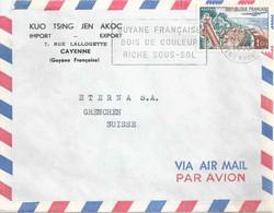"Airmail Brief  ""Kuo Tsing Jen Skoc, Import/Export, Cayenne Guyane Française""           1963 - Briefe U. Dokumente"
