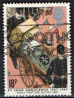 GRAN BRETAGNA - 1987 - SERVIZIO AMBULANZE ST JOHN - PRIMO SOCCORSO - AMBULANZA - USATO - Used Stamps