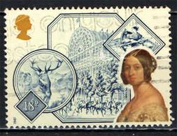 GRAN BRETAGNA - 1987 - RITRATTO DELLA REGINA VITTORIA - PALAZZO DI CRISTALLO - STORIA - USATO - Used Stamps