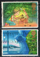 GRAN BRETAGNA - 1987 - NATALE - IL BAMBINO ED IL NATALE - ADOBBO DI NATALE - LA VIGILIA DI NATALE - USATI - Used Stamps