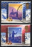 GRAN BRETAGNA - 1988 - NATALE - CHRISTMAS - VERSO BETLEMME - I PASTORI - USATI - Used Stamps