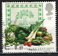 GRAN BRETAGNA - 1989 - FRUTTA E VERDURA- INDUSTRIA AGROALIMENTARE - USATO - Used Stamps
