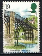 GRAN BRETAGNA - 1989 - PONTE DI FERRO - ARCHEOLOGIA INDUSTRIALE - USATO - Used Stamps