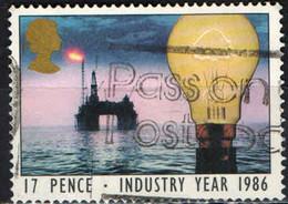 GRAN BRETAGNA - 1986 - ANNO DELL'INDUSTRIA - INDUSTRY YEAR - ELETTRICITA' - USATO - Used Stamps