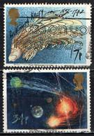 GRAN BRETAGNA - 1986 - COMETA DI HALLEY - EDMOND HALLEY - ASTRONOMO - ASTRONOMER - USATI - Used Stamps