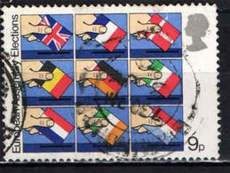 GRAN BRETAGNA - 1979 - PRIME ELEZIONI DEL PARLAMENTO EUROPEO - FLAGS OF EUROPEAN COMMUNITY MEMBERS - USATO - Gebraucht