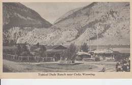 NEAR CODY WYOMING,USA. TYPICAL DUDE RANCH IN1929, Un Ranch Dans Les Montagnes, People ,Personnes, - Cody