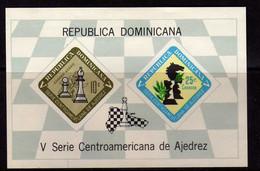 Republique Dominicaine (1967)  -BF Jeux Echecs   Neufs* MLH - Dominican Republic