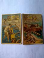 Eucalol Soap Cromo No Postcard 6*9 CM.tantalite Collecting..boat Transport In Northern Brasil.better Condition.1950. - Bergbau