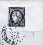 2000-21- AFFRANCHISSEMENT A 0.88 € Non Dentelé CERES NOIR Oblitéré Circulaire 13-5-2019 - Used Stamps