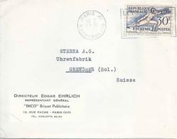 """Motiv Brief  """"Directeur Ehrlich, Imco Briquet Publicitaire, Paris""""           1954 - Covers & Documents"""