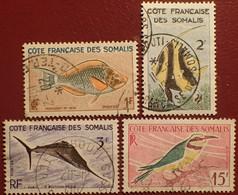DF50500/1289 - 1959/1960 - CÔTE DES SOMALIS - N°292-293-294-298 ☉ - Used Stamps