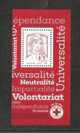 France, 5016a, Imprimé En Héliogravure, Neuf **, TTB, TVP Rouge, Marianne De Ciappa Et Kawena, Bloc Croix-Rouge 2017 - 2013-... Marianne Of Ciappa-Kawena