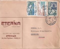 """Motiv Brief  """"Eterna, Société Des Montres, Paris""""           1954 - Covers & Documents"""