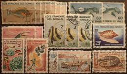 DF50500/1295 - 1967 - CÔTE DES SOMALIS - LOT DIVERS ☉ - Used Stamps