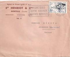 """Motiv Brief  """"Henriot, Agence En Douane, Morteau""""          1957 - Covers & Documents"""