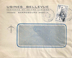 "Motiv Brief  ""Usines Bellevue, Sarrebourg""          1957 - Covers & Documents"