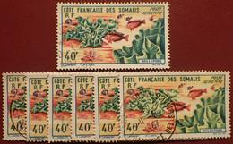 DF50500/1304 - 1963 - CÔTE DES SOMALIS - POSTE AERIENNE - N°34 (x7) ☉ - Used Stamps