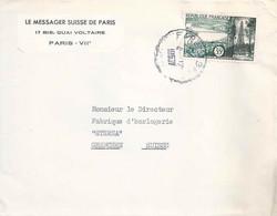 """Motiv Brief  """"Le Messager Suisse De Paris""""          1957 - Covers & Documents"""