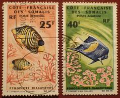 DF50500/1307 - 1966 - CÔTE DES SOMALIS - POSTE AERIENNE - N°50-51 ☉ - Cote (2020) : 13,50 € - Used Stamps
