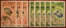 DF50500/1307 - 1966 - CÔTE DES SOMALIS - POSTE AERIENNE - N°50-51 ☉ - Cote (2020) : 56,50 € - Used Stamps