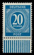KONTROLLRAT ZIFFERN Nr 924a Postfrisch URA X8301E6 - American,British And Russian Zone