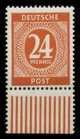 KONTROLLRAT ZIFFERN Nr 925a Postfrisch URA X83025A - American,British And Russian Zone