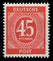 KONTROLLRAT ZIFFERN Nr 931 Postfrisch X830286 - American,British And Russian Zone
