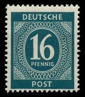 KONTROLLRAT ZIFFERN Nr 923c Postfrisch X830306 - American,British And Russian Zone