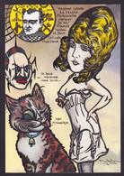 CPM Araignée Tirage Signé 30 Exemplaires Numérotés Signés Par JIHEL Kaiser Chat Cat Madame Grand Talleyrand Napoléon - Insects