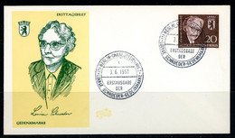 """-Germany-1961-(Berlin)  """"Louise Schroeder"""" - FDC: Briefe"""