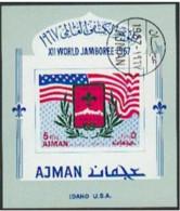 """-Ajman-1967 """"Scouting"""" Souvenir Sheet (Used) - Ajman"""