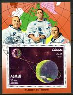 --Flight To The Moon-Ajman Souvenir Sheet-Used - Ajman