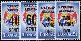 Tonga 1967 Official Provisional Set Unmounted Mint - Tonga (1970-...)