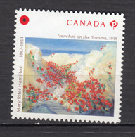 Canada, MNG, Première Guerre, Mondiale, Tranche On The Somme, Poppy, Pavot, Coquelicot, Souvenir, First World War - WW1 (I Guerra Mundial)
