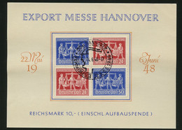 1948, Gemeinschaftsausgaben, V Zd 1, Briefst. - American,British And Russian Zone